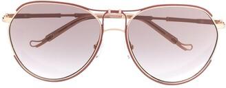 Matthew Williamson x Linda Farrow Holly aviator sunglasses
