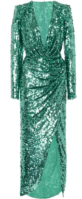 ZUHAIR MURAD Sequin-Embellished Crepe Gown