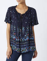 Monsoon Mina Floral Placement Print Top