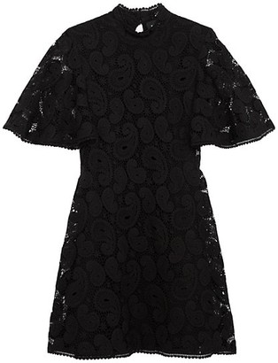 The Kooples Robe Highneck Lace Dress