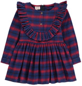 Morley Goldie Ruffle Checked Flannel Dress