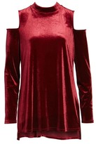 Halogen Women's Velvet Cold Shoulder Top