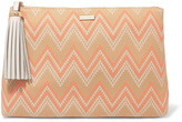 Melissa Odabash Ibiza printed canvas clutch
