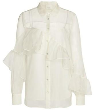 Cinq à Sept Larissa Ruffled Silk Shirt