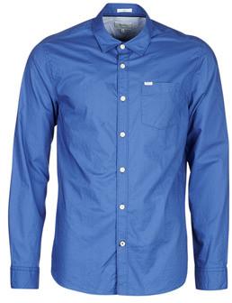 Pepe Jeans HUGH men's Long sleeved Shirt in Blue