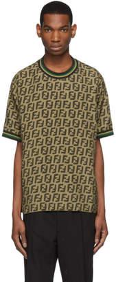 Fendi Brown All Over Forever T-Shirt