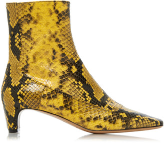 Maison Margiela Snake-Effect Leather Ankle Boots