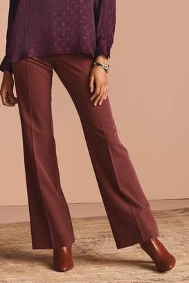 Next Womens Pink/Rust Slim Flare Fit Trousers - Pink