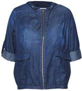 Dex Plus Roll-Tab Sleeve Bomber Jacket