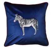 """Jessica Russell Flint """"The Zebra"""" Velvet Cushion"""