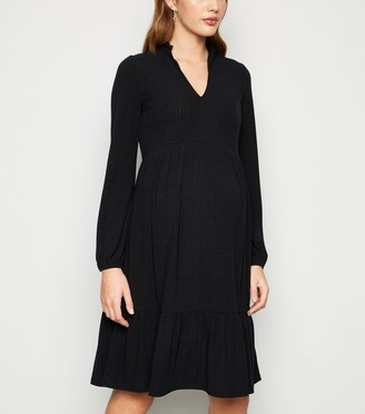 New Look Maternity Ribbed Tiered Smock Dress