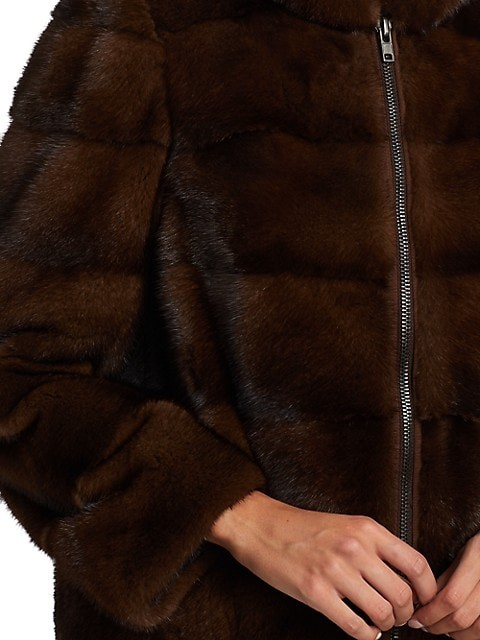 Thumbnail for your product : The Fur Salon Hooded Mink Fur Jacket
