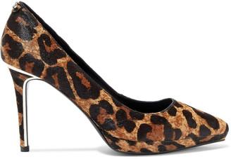 DKNY Lexi Leopard-print Calf Hair Platform Pumps