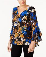 Thalia Sodi Bell-Sleeve Necklace Top, Created for Macy's