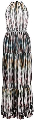 Missoni Backless Tiered Maxi-Dress