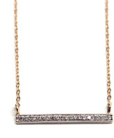 Rachael Ryen - 14k Gold Diamond Bar Necklace