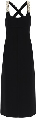 Lanvin Strap-Embroidered Sleeveless Long Dress
