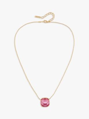 Susan Caplan Vintage D'Orlan 22ct Gold Plated Swarovski Crystal Pendant Necklace, Gold/Pink