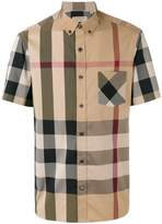 Burberry checked short sleeve shirt