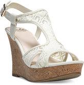 Fergalicious Kailyn T-Strap Platform Wedge Sandals