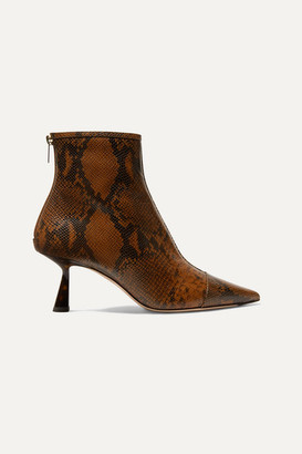 Jimmy Choo Kix 65 Snake-effect Leather Ankle Boots - Snake print