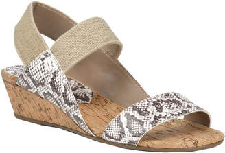 Donald J Pliner Elsie Leather Wedge Sandal