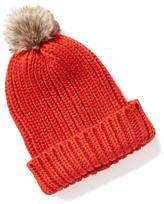 Old Navy Sweater-Knit Pom-Pom Beanie for Women