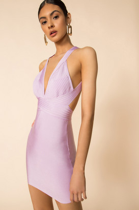 superdown Natalia Deep V Bandage Dress