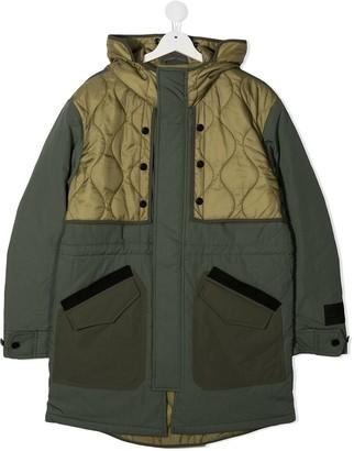 Diesel TEEN Patchwork Parka coat