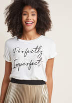 ModCloth Simply You Graphic Tee in 2X - Short Sleeve Regular Waist