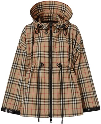 Burberry Beige Check Print Jacket