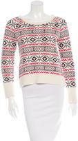 Sandro Intarsia Pullover Sweater