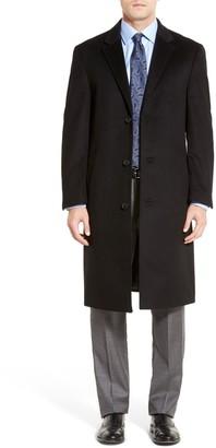 Hart Schaffner Marx Sheffield Classic Fit Wool & Cashmere Overcoat