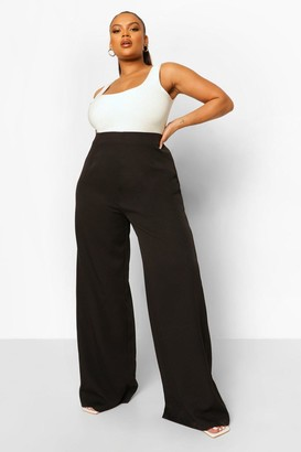 boohoo Plus Tailored Wide Leg Trouser