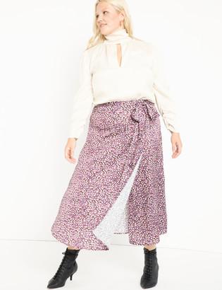 ELOQUII Wrap Skirt with Yoke