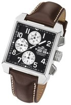 Fortis Men's 667.10.71 L.16 Square Chronograph Analog Display Automatic Self Wind Brown Watch