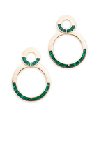Pamela Love Quarter Drop Earrings
