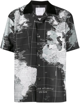 Sacai Map Of The World Shirt