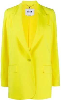 MSGM Vibrant Single-Breasted Blazer
