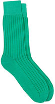 Corgi Men's Ribbed Cotton Mid-Calf Socks-GREEN