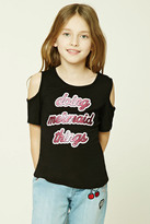 Forever 21 FOREVER 21+ Girls Open-Shoulder Top (Kids)