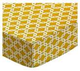SheetWorld Extra Deep Fitted Portable / Mini Crib Sheet - Mustard Links - Made In USA