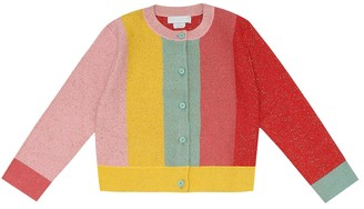Stella Mccartney Kids Striped cotton-blend cardigan
