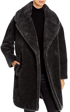 Donna Karan Oversized-Lapel Teddy Coat