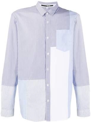 McQ geometric contrast panel shirt