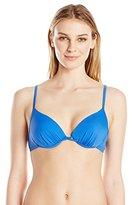 Oakley Women's Core Solids Molded Underwire Push Up Bra Bikini Top