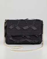 RED Valentino Ribbon-Lace Chain Shoulder Bag, Black