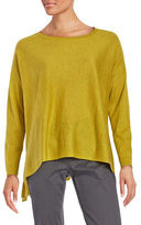 Eileen Fisher Boatneck Long Sleeve Top