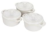 Staub Mini Round Ceramic Cocottes (Set of 3)