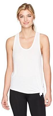 good hYOUman Women's Dallas Optic White Assymetrical Tie Tank